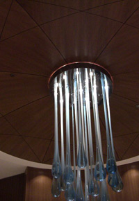Ceiling Sapele light