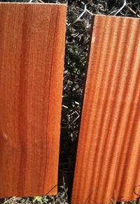 Sapele: Flat sawn (left) & quarter sawn (right)