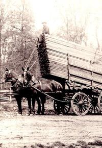 Horse drawn McIlvain lumber