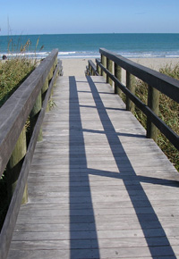 Ipe boardwalk at Cocoa Beach