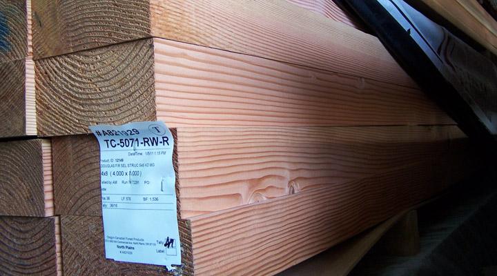 large douglas fir structural timbers