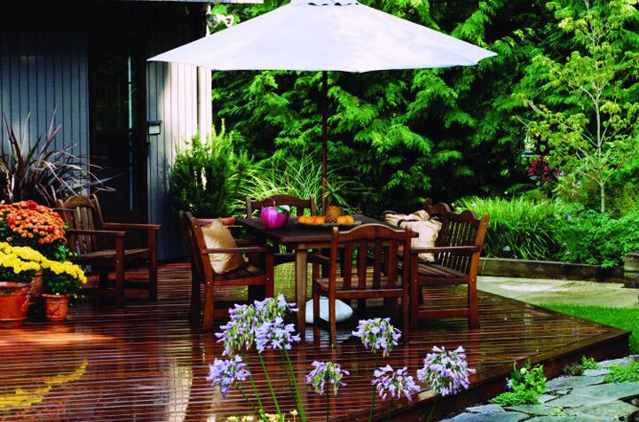 fresh ipe wooden deck