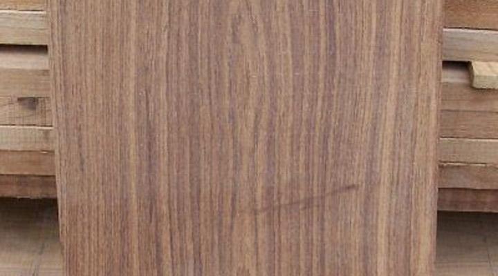 flat sawn teak board shaded