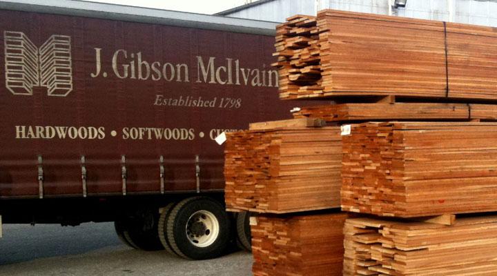 stacks of Cherry wood